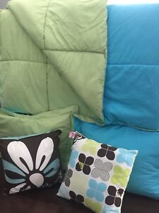 Girls Bedding with ROXY pillows