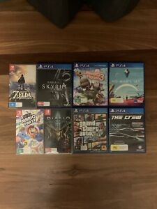 Nintendo Switch Games and PS4 Games