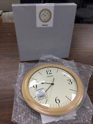 NEW SEIKO MODERN WALL CLOCK WOOD 12 QXA497BLH QUIET SWEEP SILENT SECOND HAND