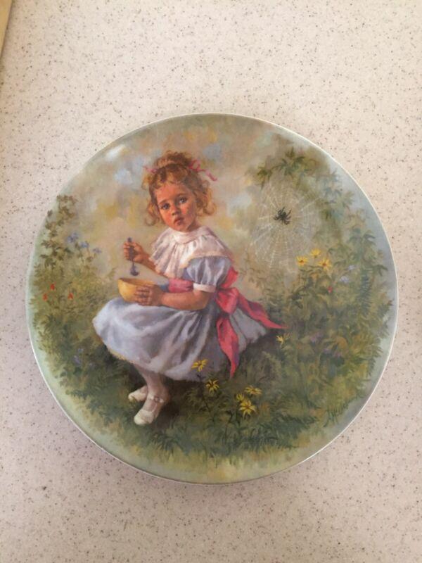 Mother Goose Series Collector Plate Miss Muffet 1981 John McClelland Reco No COA