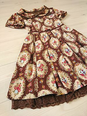 Floral wreath Himekaji&Lolita dress LIZ LISA Japan-M See-through Romanitc Hime