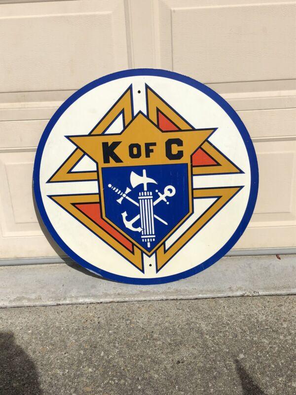 "Knights of Columbus 30"" Advertising Sign - K of C Catholic - FREESHIP"