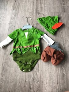 Disney Peter Pan baby costume (3-6 mos) used once
