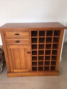 Wooden Wine Cabinet Canley Heights Fairfield Area Preview