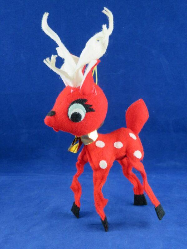 Vintage Red Reindeer ~Noel Japan~ Deer Fawn Christmas Decoration