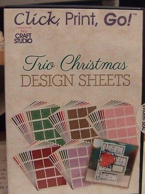 NEW SEALED MY CRAFT STUDIO CLICK PRINT GO TRIO CHRISTMAS DESIGN SHEETS CD ROM