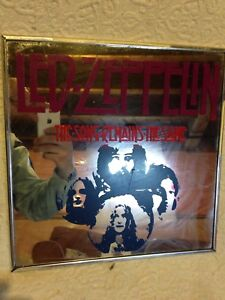 Rare vintage Led Zeppelin mirror the song remains the same