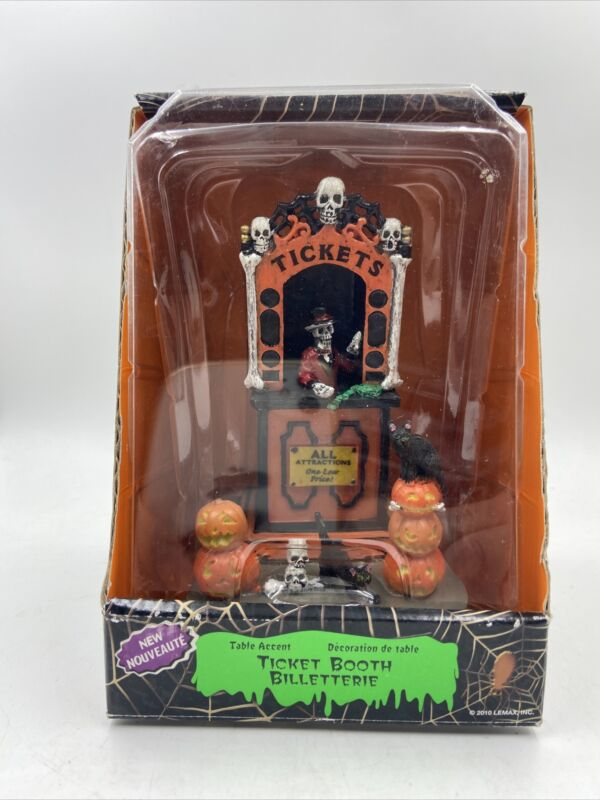 Lemax Spooky Town Ticket Booth #3825 Halloween Village Accent Retired 2014