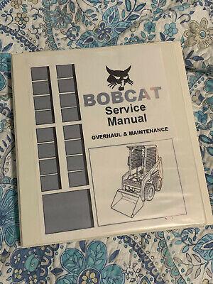 Bobcat 741 742 743 743ds Skidsteer Loader Workshop Manual Maint Manual Binder
