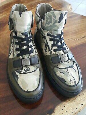 Versace Men Fashion Sneakers Camuflaje high Top Shoe Size 9.3 (43)