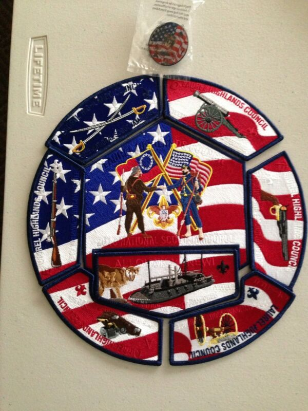Mint 2013 National Jamboree 9 JSP Set Laurel Highlands Council Civil War w pin