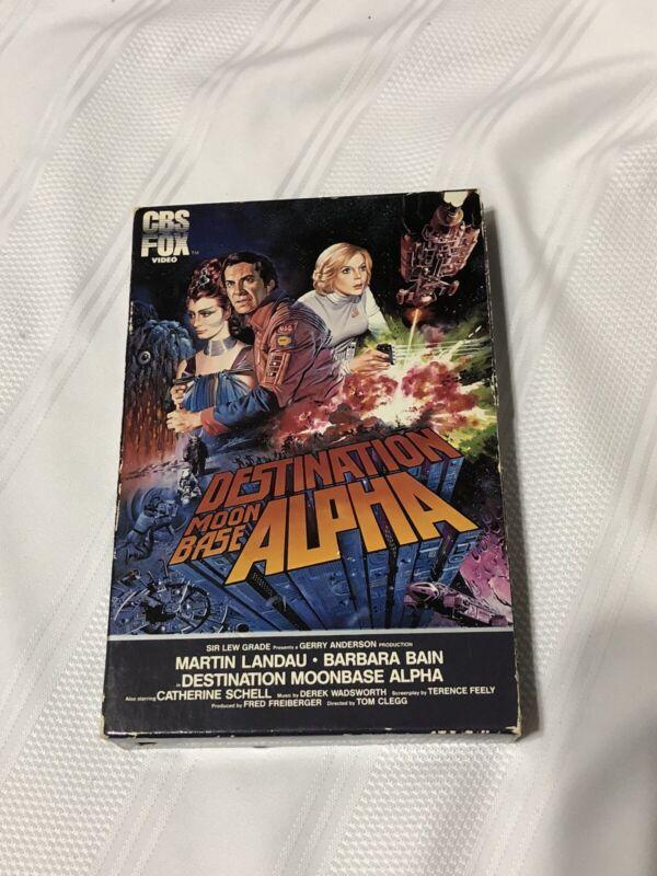 Vtg rare 1983 DESTINATION: MOONBASE ALPHA Martin Landau Barbra Bain Betamax 12B