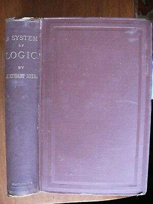 A SYSTEM OF LOGIC, RATIOCINATIVE AND INDUCTIVE: by John Stuart Mill 1882 8th