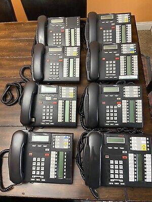 Lot Of 8 Nortel Charcoal T7316e Avaya Business Corded Phones Handsets Landlines