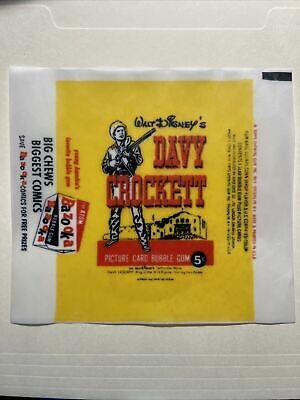 1956 Topps Davy Crockett Cards Wax Wrapper 5 Cent Print