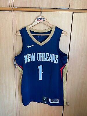 Nike New Orleans Pelicans NBA Swingman Jersey Sz Medium 864493-427 #1 Zion