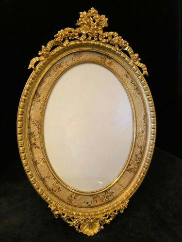 Very Fine Large Oval Gilt Dore