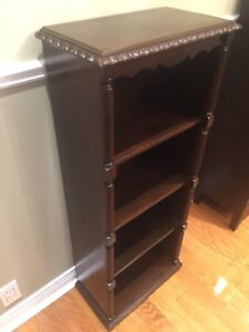 Antique Bookcase- Compact Size- Mahogany-4 Shelves