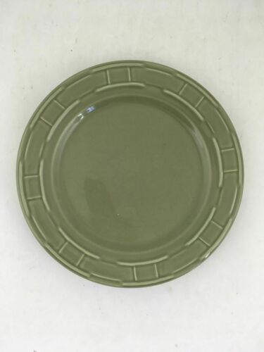 """1 Longaberger Woven Traditions Pottery Sage Green Dinner Plate 10""""~EUC!"""