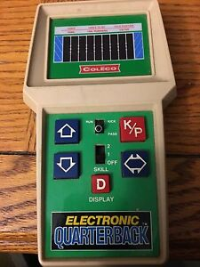 Coleco electronic quarterback hand held game vintage 1970-80's