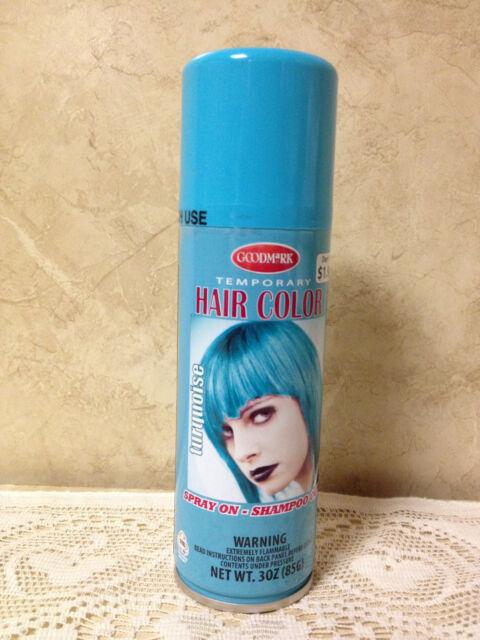 Turquoise Goodmark Halloween Temporary Hair Color Spray on Wash ...