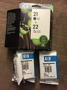 HP  combo pack ink 21 black and 22 tri colour