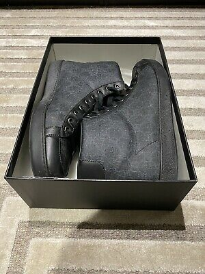 Gucci Black High Top Uk 8