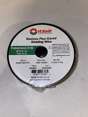 Hobart E71t-11 Gasless Flux Core Welding Wire .035 2 Lb Roll Usa Made