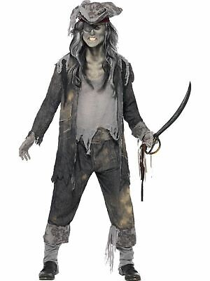 Zombie Pirate Ghost Ship Ghoul Mens Halloween Party Fancy Dress Costume - Zombie Pirate Ship Halloween Party