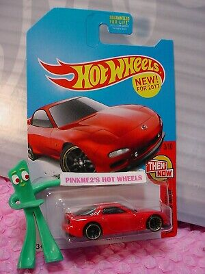 '95 MAZDA RX-7✰Kmart Exclusive RED; j5✰THEN AND NOW✰NEW! 2017 Hot Wheels Case Q