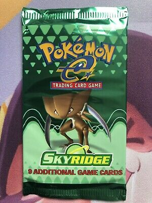 Kabutops Art Skyridge Sealed Booster Pack Mint Pokemon