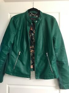 Ladies faux leather jacket size large