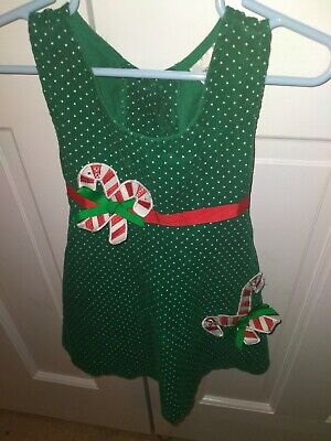 Rare Editions Christmas Holiday Baby Girl Toddler Jumper Dress 24 Months