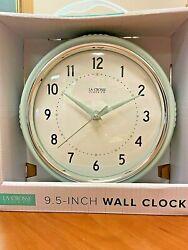 La Crosse 9.5 Wall Clock (Pistachio)