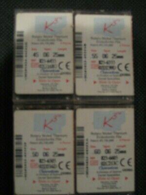 New Sybron Endo K3 Ni Ti Rotary Endodontic Files .06 Taper 25mm Size45-60