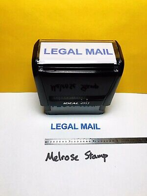 Legal Mail Rubber Stamp Blue Ink Self Inking Ideal 4913