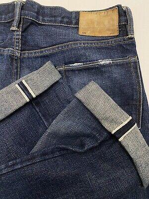 Simon Miller 32 x 30 Slim Straight Selvedge Wash Denim Button Fly USA MADE Jeans