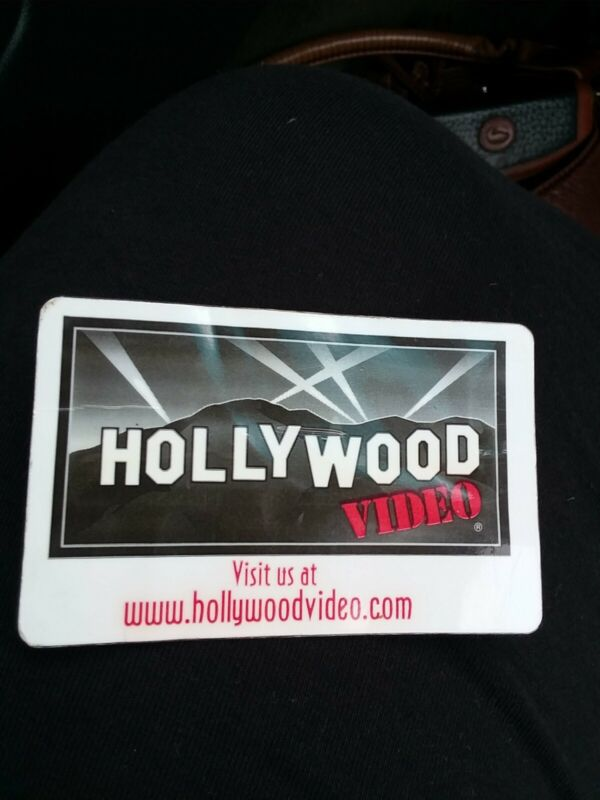 Vintage Hollywood Video Membership Card Video Store Nostalgia Collectible
