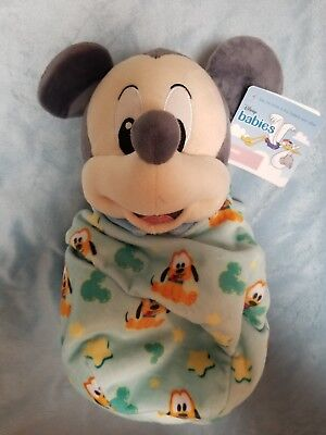 Disney Parks Mickey Mouse Baby Plush with Blanket Pouch 10