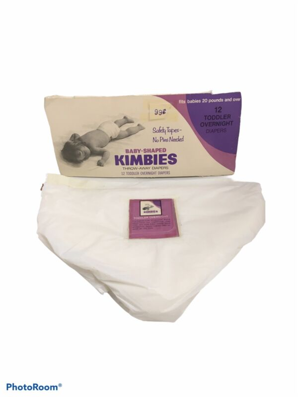 Vintage KIMBIES DIAPERS Baby Shaped Collectible
