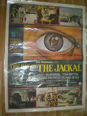 THE DAY OF THE JACKAL Edward Fox Terence Alexande POSTER INDIA original RARE !!!