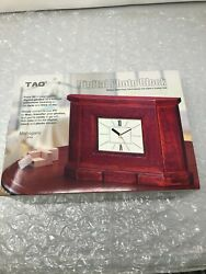 Tao Tabletop Digital Photo Clock Mahogany