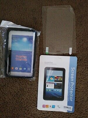 Samsung Tablet Case Black Hard Cover Galaxy 3 E Lite 7.0 T110 T111 T113 T116 USA for sale  Shipping to India