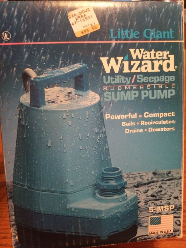 Little Giant Submersible Pump Water Wizard 1250 Gallons/Hr 5-MSP