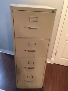 4 drawer filing cabinet lock and files