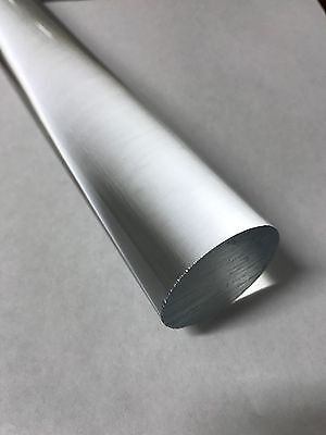 Acrylic Round Plastic Rod - Transparent Clear - 1 Diameter X 12 Length