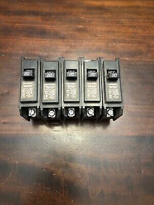 5 Challenger 20a 20 Amp Single Pole Type C Circuit Breaker