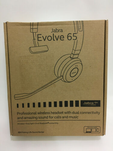 Jabra Evolve 65 Mono UC & Link 370 Bluetooth Headset with Case 6593-829-409