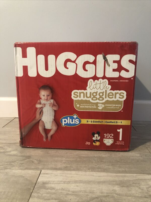 Huggies Little Snugglers Baby Diapers, Size 1 (192 Count ) |NEW Big Pack)
