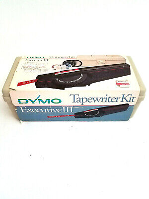 Vintage Dymo Executive Iii Tapewriter Label Maker With Case Tested W Tape